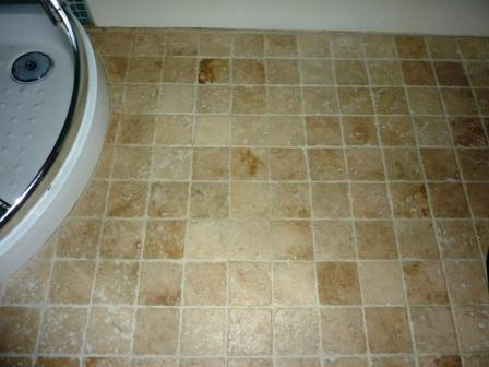 Travertine Floor after Cleaning, Sealing.
