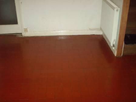 Before Picture - A Quarry Tile Floor Restored by Tile Doctor